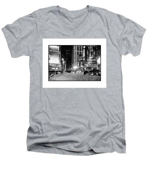 39th Ave Winter Men's V-Neck T-Shirt
