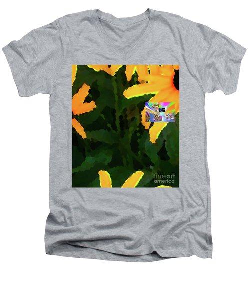 4-19-2057f Men's V-Neck T-Shirt