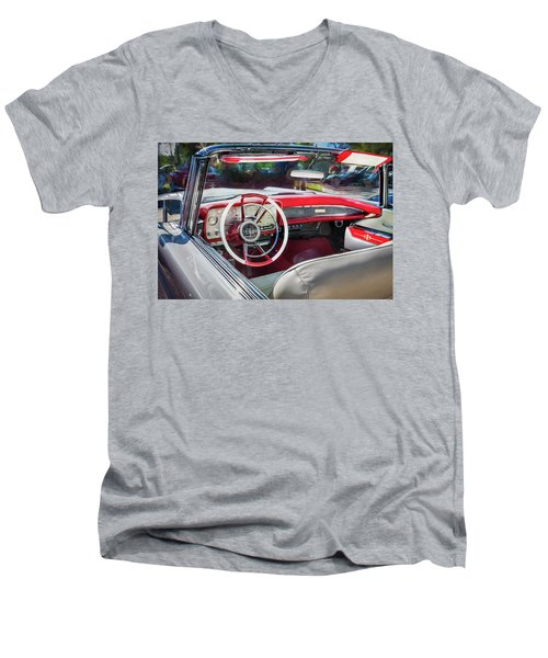 1959 Lincoln Continental Town Car Mk Iv Painted  Men's V-Neck T-Shirt