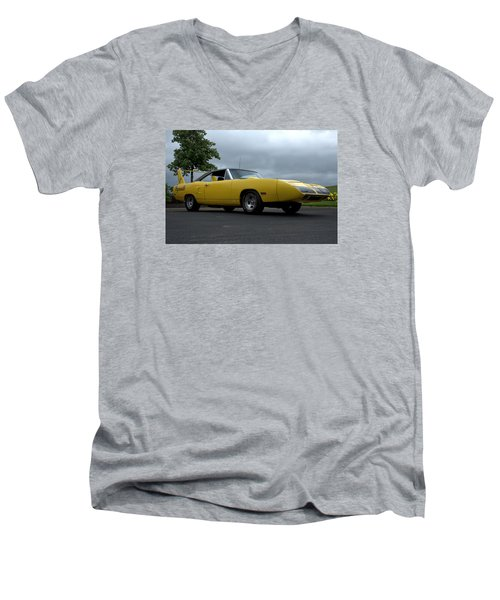 Men's V-Neck T-Shirt featuring the photograph 1970 Plymouth Roadrunner Superbird by Tim McCullough