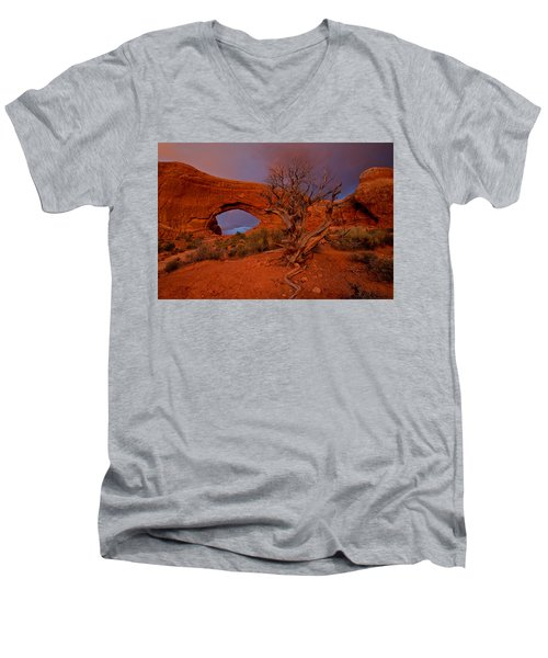 Men's V-Neck T-Shirt featuring the photograph Arches by Evgeny Vasenev