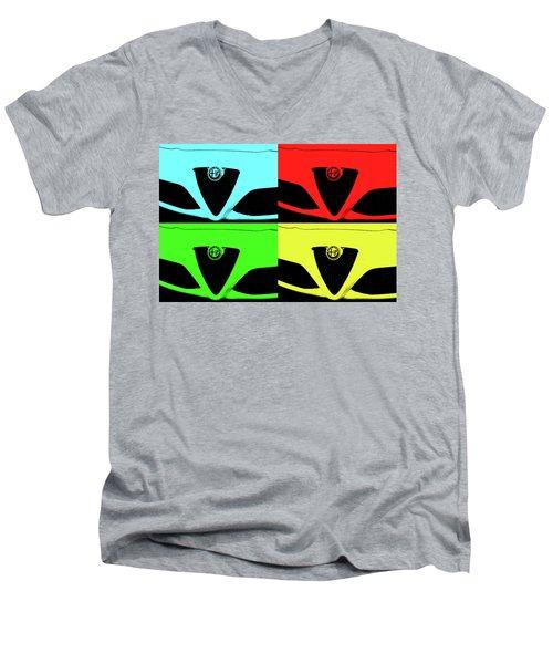4 C Pop Men's V-Neck T-Shirt by John Schneider