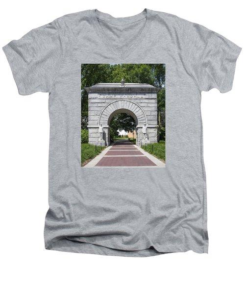 Camp Randall Memorial Arch - Madison Men's V-Neck T-Shirt by Steven Ralser