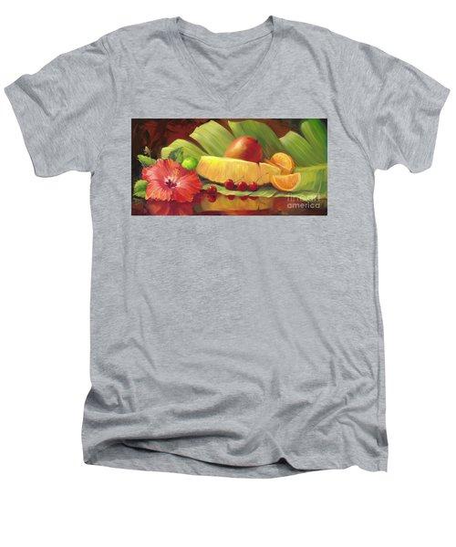 4 Cherries Men's V-Neck T-Shirt