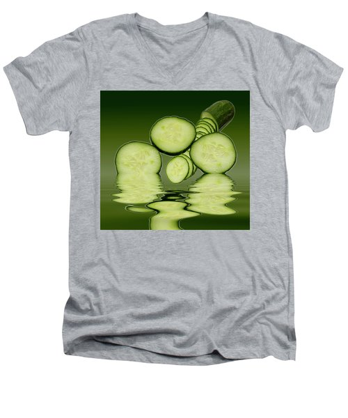 Cool As A Cucumber Slices Men's V-Neck T-Shirt
