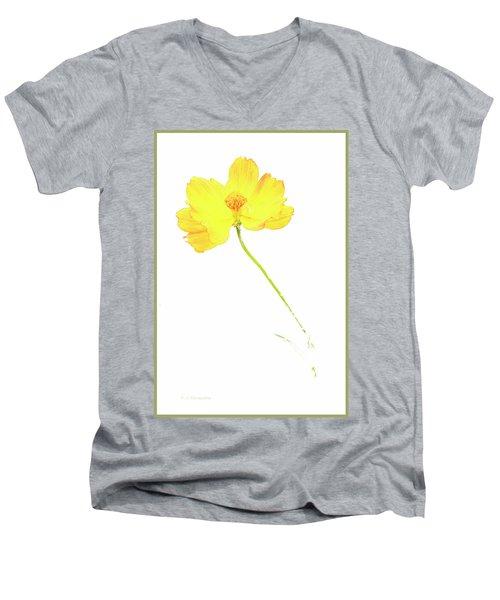 Cosmos Flower Men's V-Neck T-Shirt