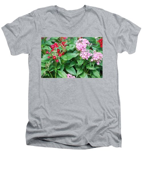 Men's V-Neck T-Shirt featuring the photograph Flowers by Rob Hans