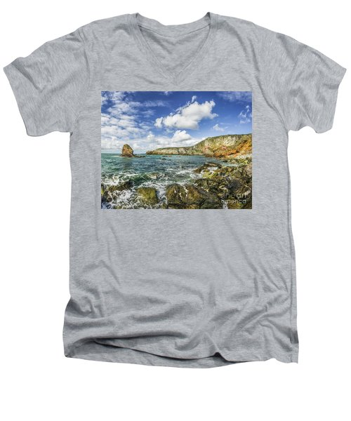 Gwenfaens Pillar Men's V-Neck T-Shirt by Ian Mitchell