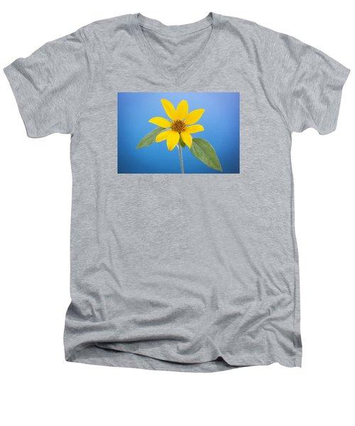 Happy Sunflowers Helianthus  Men's V-Neck T-Shirt