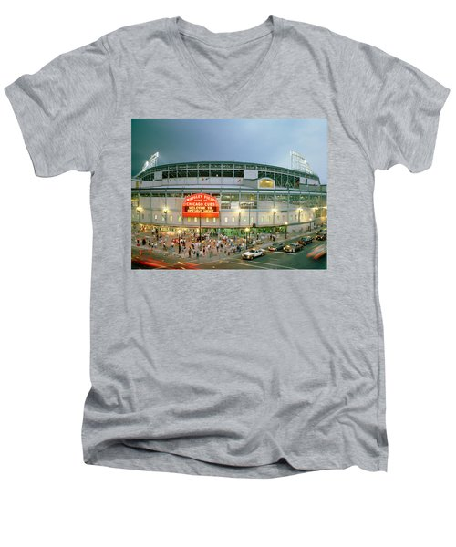 High Angle View Of Tourists Men's V-Neck T-Shirt