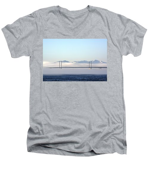 Kessock Bridge, Inverness Men's V-Neck T-Shirt