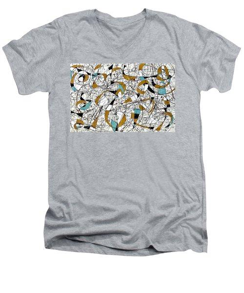 #3 Men's V-Neck T-Shirt