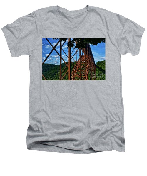 New River Gorge Bridge Men's V-Neck T-Shirt