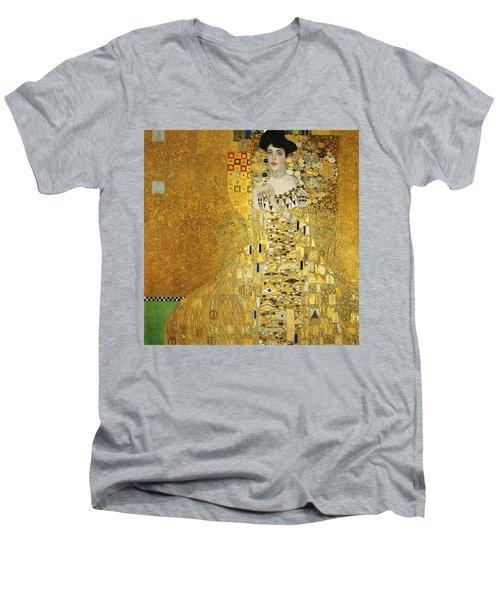 Portrait Of Adele Bloch-bauer I Men's V-Neck T-Shirt by Gustav Klimt