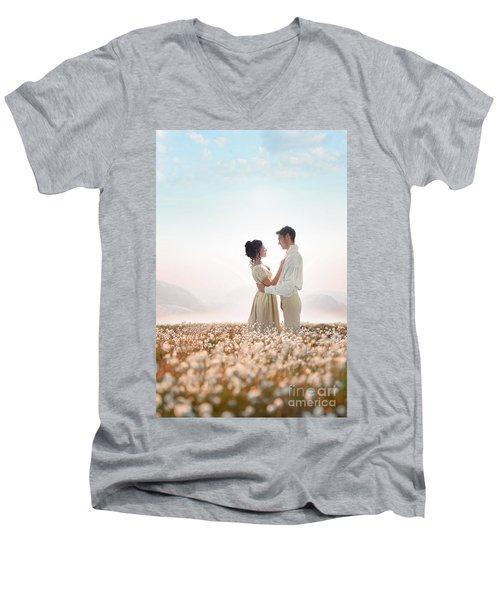 Regency Couple Men's V-Neck T-Shirt by Lee Avison