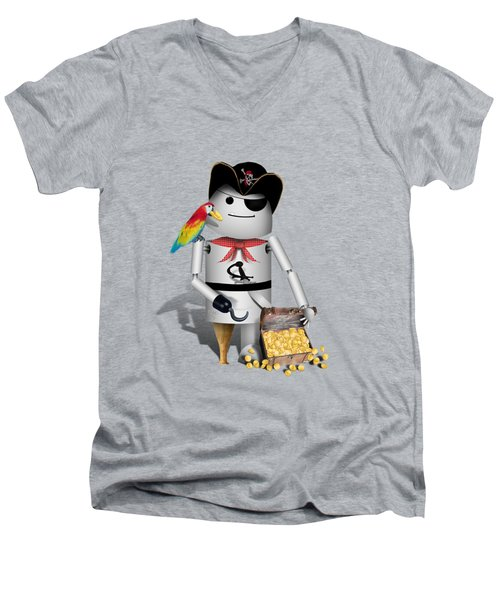 Robo-x9 The Pirate Men's V-Neck T-Shirt