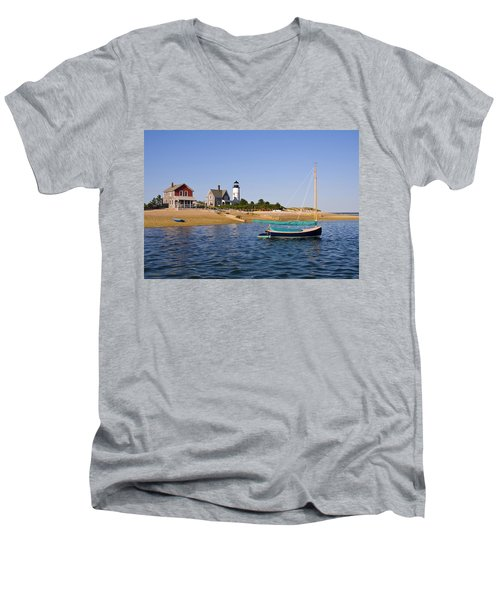 Sandy Neck Lighthouse Men's V-Neck T-Shirt