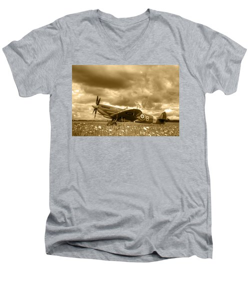 Spitfire Mk Ixb Men's V-Neck T-Shirt