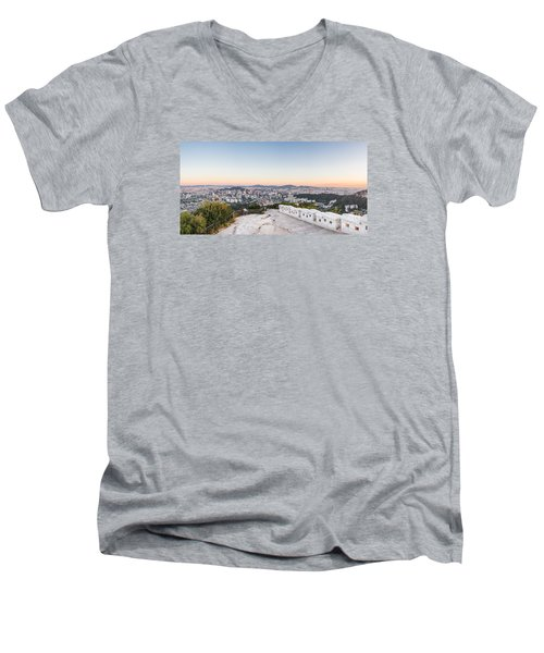 Sunset Over Seoul Men's V-Neck T-Shirt