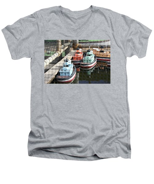 4 Toy Boats Men's V-Neck T-Shirt