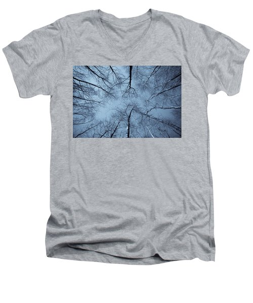 Trees In Epping Forest Men's V-Neck T-Shirt