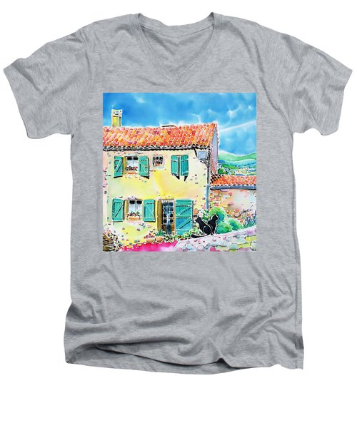 View Of Luberon Men's V-Neck T-Shirt