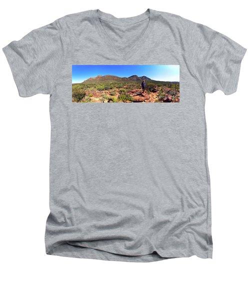 Wilpena Pound Men's V-Neck T-Shirt by Bill Robinson