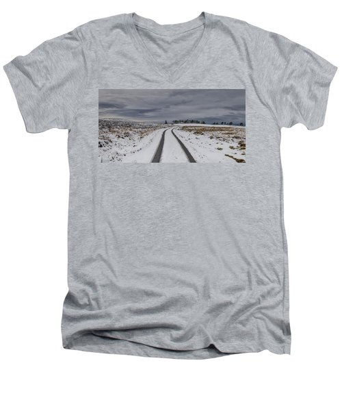 Winter Wonderland In Central Scotland Men's V-Neck T-Shirt