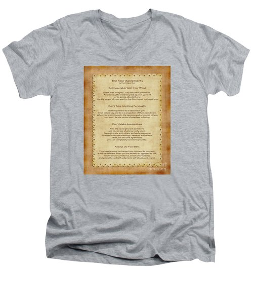 41- The Four Agreements Men's V-Neck T-Shirt
