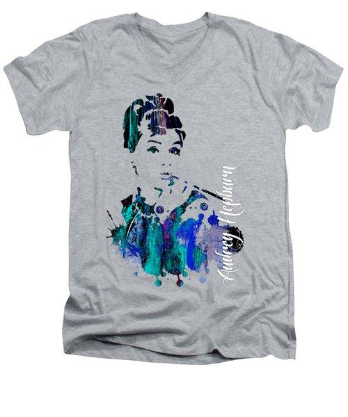 Audrey Hepburn Collection Men's V-Neck T-Shirt