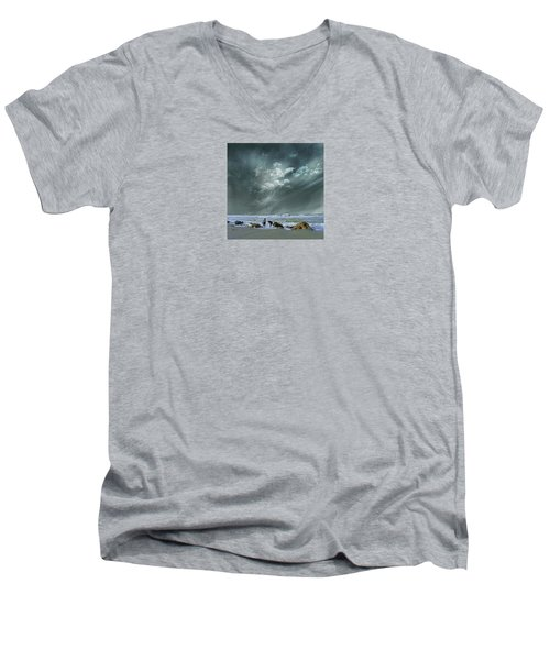 Men's V-Neck T-Shirt featuring the photograph 4399 by Peter Holme III