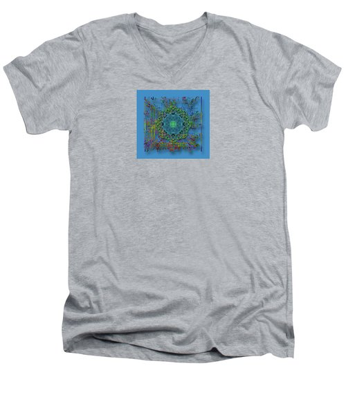 Men's V-Neck T-Shirt featuring the photograph 4402 by Peter Holme III