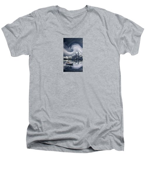 Men's V-Neck T-Shirt featuring the photograph 4412 by Peter Holme III