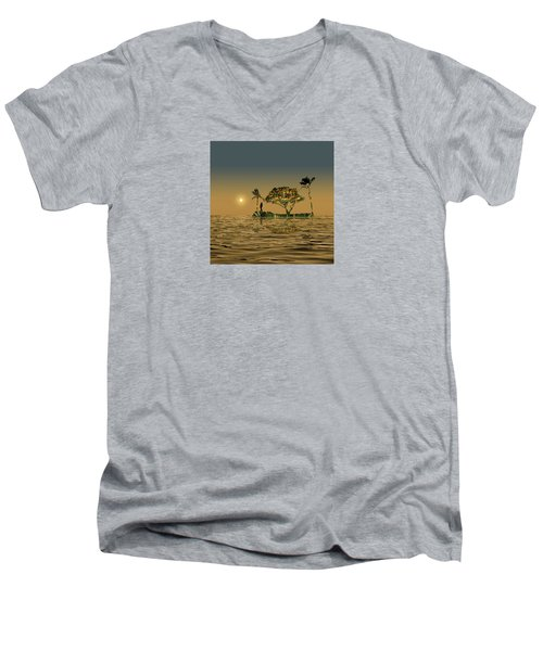 Men's V-Neck T-Shirt featuring the photograph 4423 by Peter Holme III