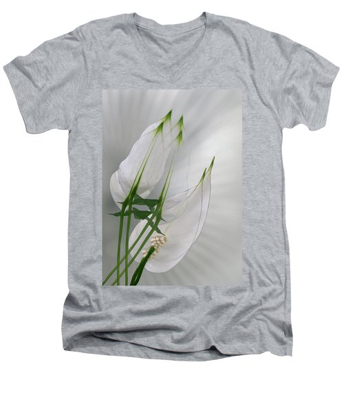 Men's V-Neck T-Shirt featuring the photograph 4425 by Peter Holme III