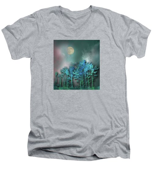 Men's V-Neck T-Shirt featuring the photograph 4480 by Peter Holme III