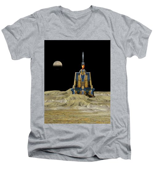 Men's V-Neck T-Shirt featuring the photograph 4481 by Peter Holme III