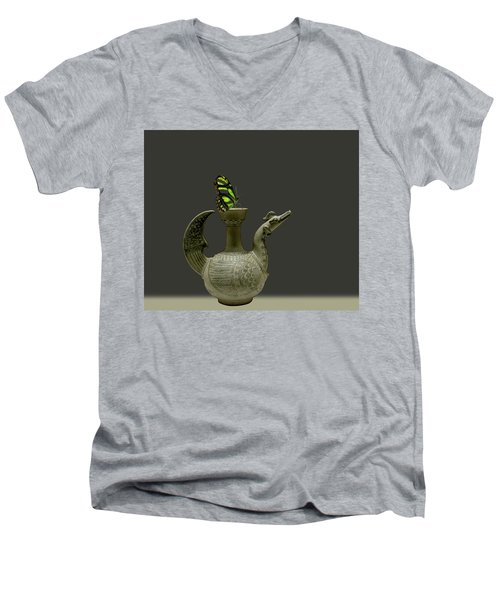 Men's V-Neck T-Shirt featuring the photograph 4482 by Peter Holme III