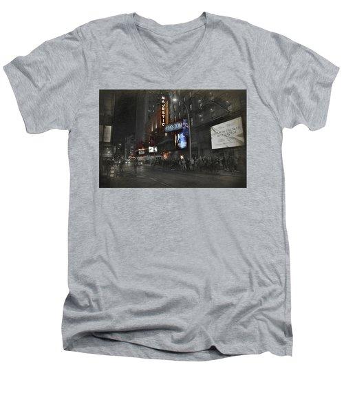 44th Street Nyc Men's V-Neck T-Shirt