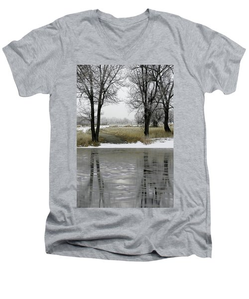 Men's V-Neck T-Shirt featuring the photograph 4505 by Peter Holme III
