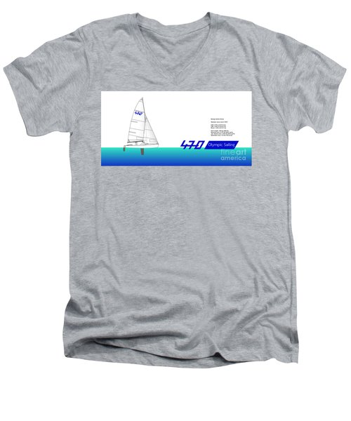 470 Olympic Sailing Men's V-Neck T-Shirt