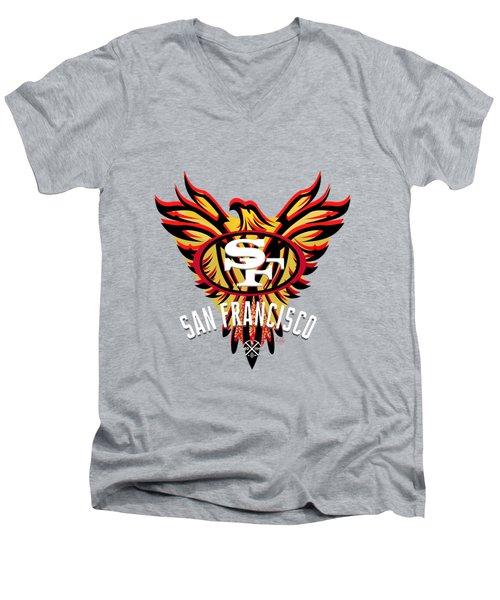 49er Phoenix  Men's V-Neck T-Shirt by Douglas Day Jones