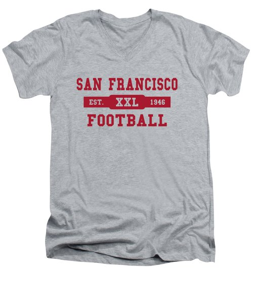 49ers Retro Shirt Men's V-Neck T-Shirt