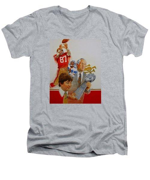 49rs Media Guide Cover 1982 Men's V-Neck T-Shirt
