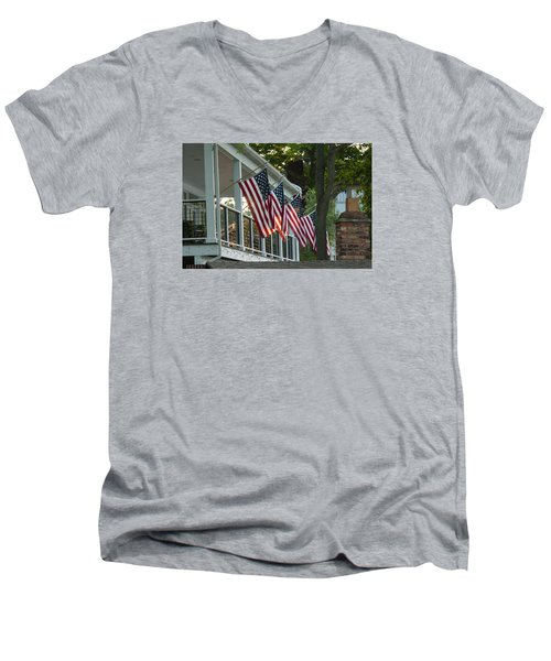 4th Of July Porch Men's V-Neck T-Shirt