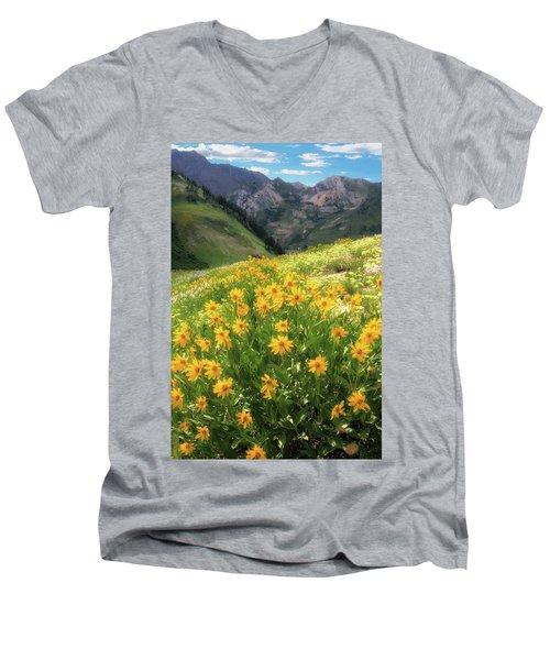 Albion Basin Wildflowers Men's V-Neck T-Shirt