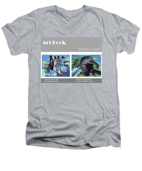 Art Book Men's V-Neck T-Shirt
