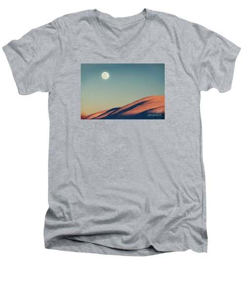 Beautiful Winter Landscape Men's V-Neck T-Shirt