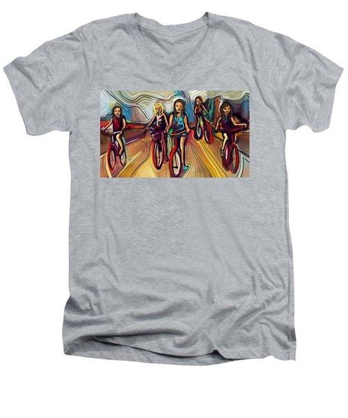 5 Bike Girls Men's V-Neck T-Shirt