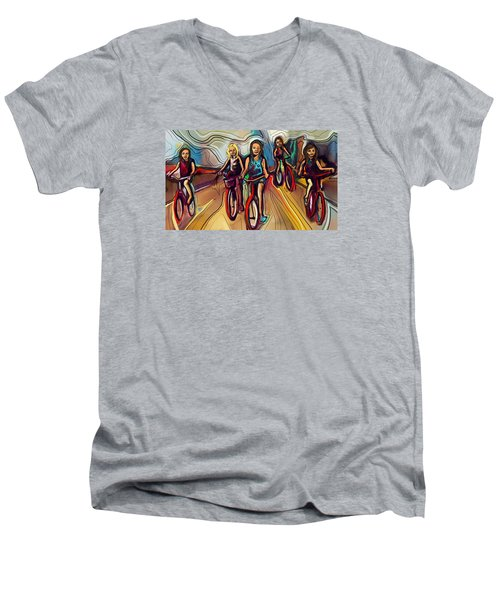 5 Bike Girls Men's V-Neck T-Shirt